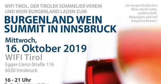 Wein Burgenland Präsentation in Innsbruck